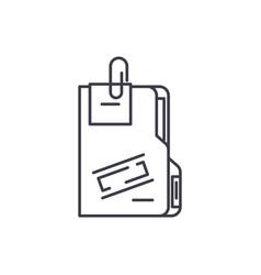 secret archive line icon concept secret archive vector image