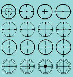 Set different sights on a turquoise background vector