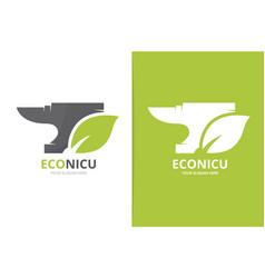 Smith and leaf logo combination unique vector