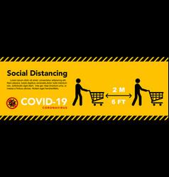 social distancing banner keep 2 meter vector image