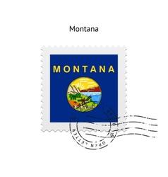 State of Montana flag postage stamp vector