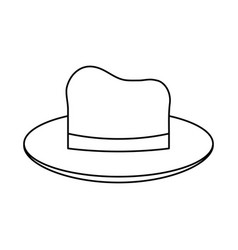 Summer hat icon image vector