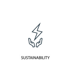 Sustainability concept line icon simple element vector