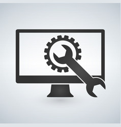 technical support computer support and diagnostic vector image