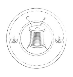Thread spool icon vector