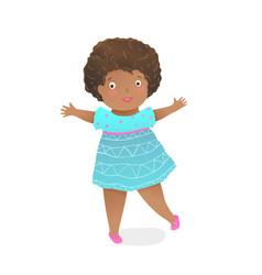 toddler girl african american preschooler child vector image