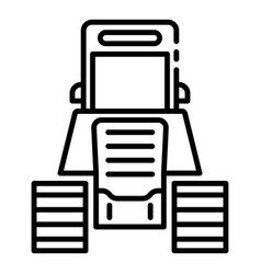 tractor excavator icon outline style vector image