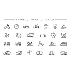 travel and transportation concept line style vector image