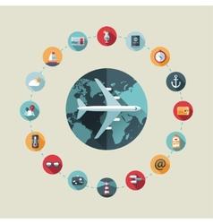 travel flat design composition vector image