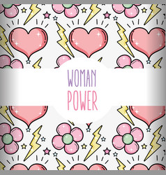 woman power pattern background vector image