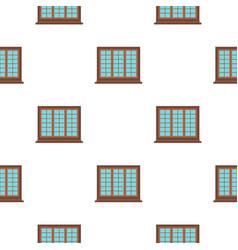 Wooden brown tricuspid window pattern flat vector