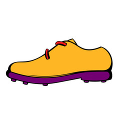 golf shoe icon icon cartoon vector image