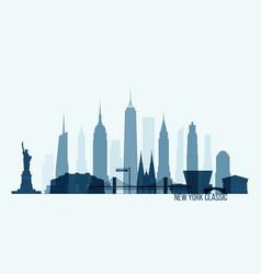 new york skyline building city vector image