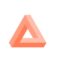penrose triangle icon in pink geometric 3d object vector image vector image