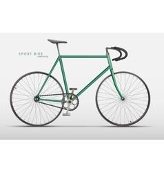 realistic racing bicycle road racing vector image