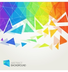 Abstract polygonal rainbow background vector image vector image