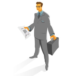 Businessman with contract vector image vector image