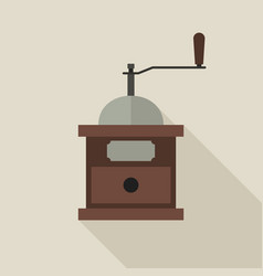 coffee grinder in flat style vector image