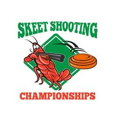 Crayfish lobster target skeet shooting vector