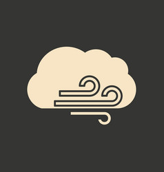 Flat in black and white mobile application cloud vector