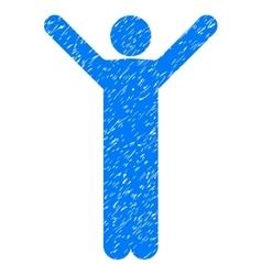 Happy Man Grainy Texture Icon vector image vector image