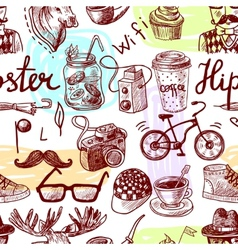 Hipster seamless vector image