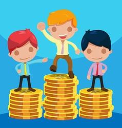 Man Worker Success Winner Coin vector image vector image