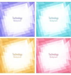 Set of Light Colorful Technology Frames vector image