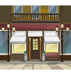 Shop Restaurant Cafe Store Front with Windows vector image vector image