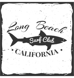 Surf club concept vector image