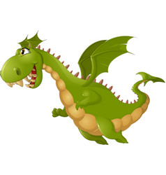 angry dragon cartoon vector image