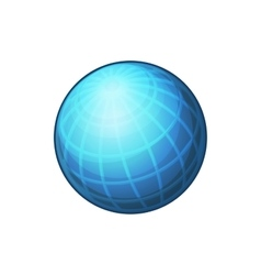 Blue Globe Network Icon on White Background vector image vector image