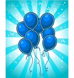 Blue Party Balloons vector image vector image