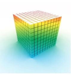Colorful cubes vector image