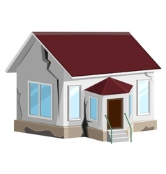 House destroyed Cracks in walls of home Property vector image vector image