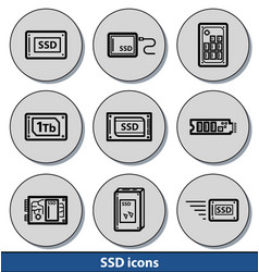 light ssd icons vector image