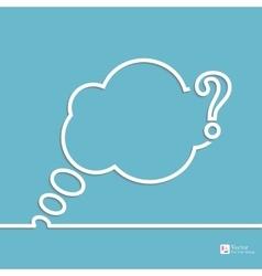 Question mark icon vector image