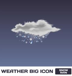 Snow Rain Icon vector image vector image