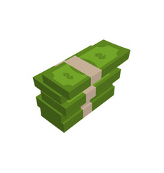 stack of money isolated pile of cash on white vector image