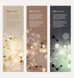 abstract molecules design vector image