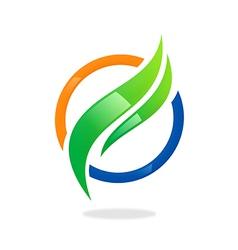 business finance round swirl logo vector image vector image