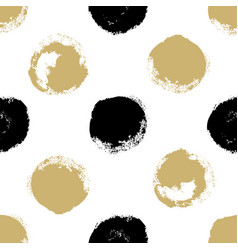 decorative seamless pattern with brush drawn vector image vector image