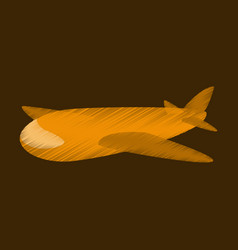 flat shading style icon toy airplane vector image vector image
