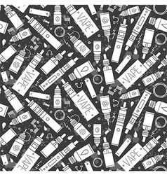 icons of vape seamless pattern vector image