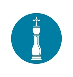 Isolated chess piece design vector image vector image