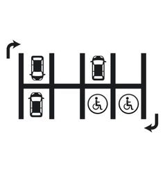 parking signal vector image vector image