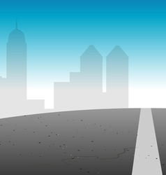 road city skyline vector image