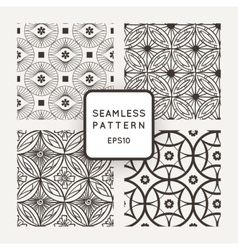 Set of seamless patterns in the style of vector image