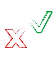 validate and declined symbols vector image