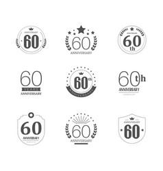 60 years anniversary logo set 60th anniversary vector